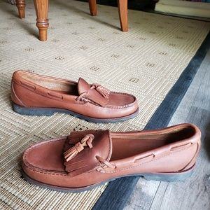 Foot-joy leather hand stitched loafer